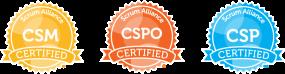 ScrumAlliance Zertifikate CSM CSPO CSP